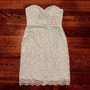 Strapless Lace Dress with Full Skirt
